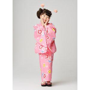 イオン浴衣桜ピンク2017