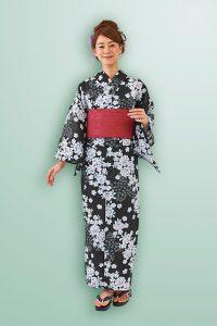 レディース 浴衣 4点セット 桜