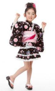 トドラー女児浴衣ドレス浴衣